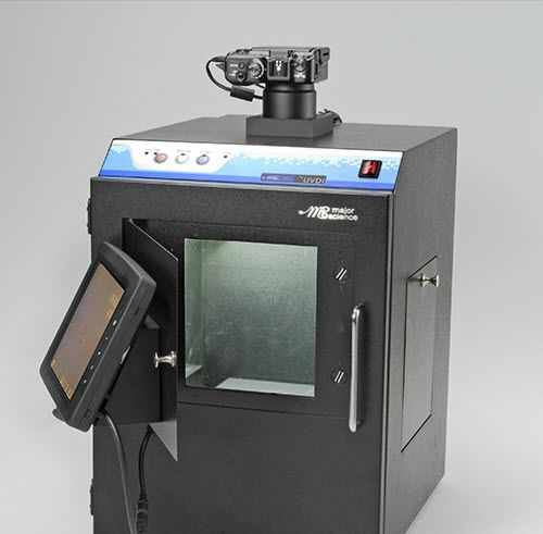 gel documentation system with integrated camera / with transilluminator