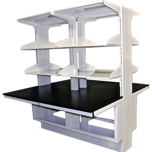 island-type laboratory bench / with shelves