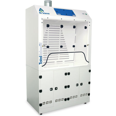 laboratory fume hood / for biological hazards / exhaust / containment