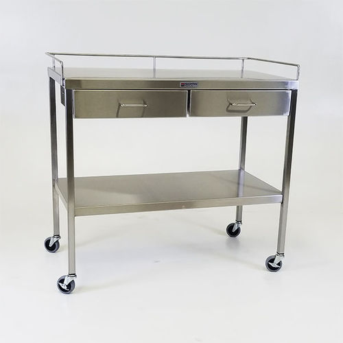 worktop with drawer / on casters / stainless steel