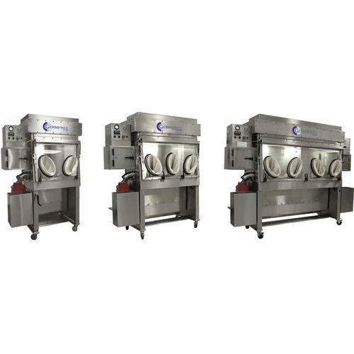class III isolator / containment / mobile / with HEPA filter