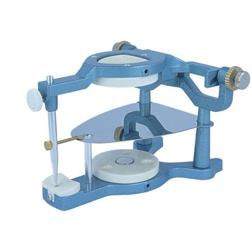 dental articulator with magnetic mounting system