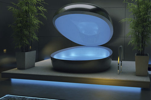 isolation tank with chromotherapy lamps