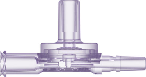 valve for the medical industry / with check valve