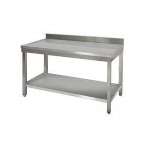 laboratory table / work / rectangular / wall-mounted