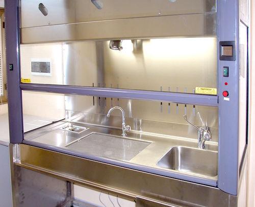 histopathology laboratory fume hood / for forensics / exhaust / floor-standing