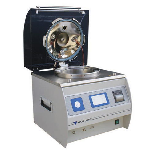 laboratory sterilizer / hot water / bench-top / with touchscreen