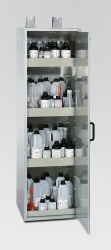 chemical product cabinet / hospital / with shelf / 1-door
