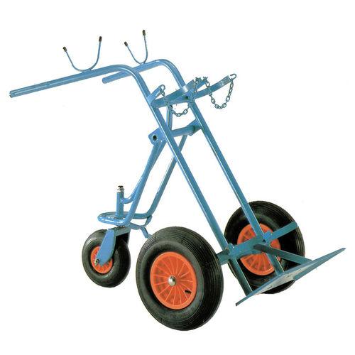 transport trolley / gas cylinder / 2-cylinder / medical