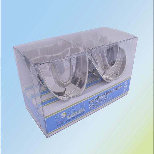 upper dental impression tray / lower / non-perforated