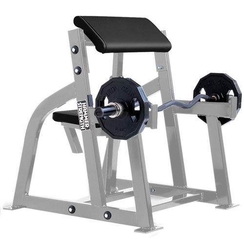Larry Scott weight training bench / with barbell rack
