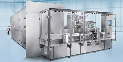 filling and closing machine for the pharmaceutical industry / for ampoules / linear