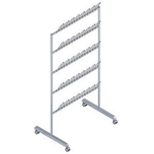 transport trolley / shoe rack / medical / stainless steel