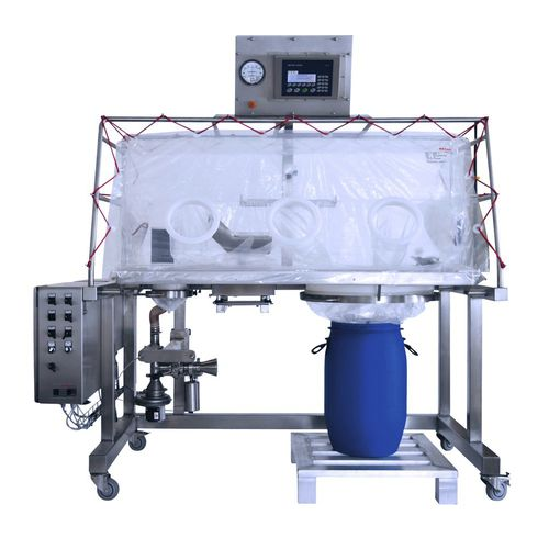 single-use isolator / for the pharmaceutical industry / weigh / sampling