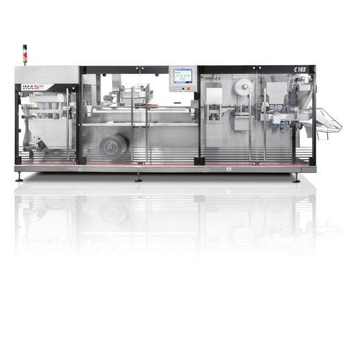 blister packaging system / intermittent / for the cosmetics industry / for the pharmaceutical industry