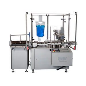 liquid filler / fully automatic / bottle / for the pharmaceutical industry