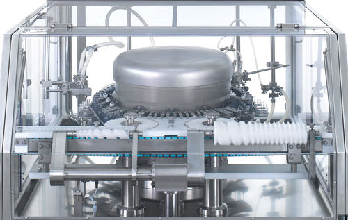 vial cleaning station / for the pharmaceutical industry