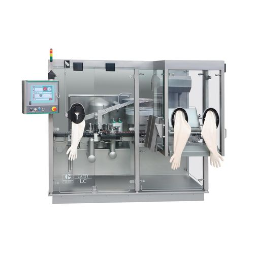 filler for the medical industry / for liquids / with capping system