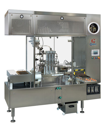 drug ampoule filling and sealing machine / automatic