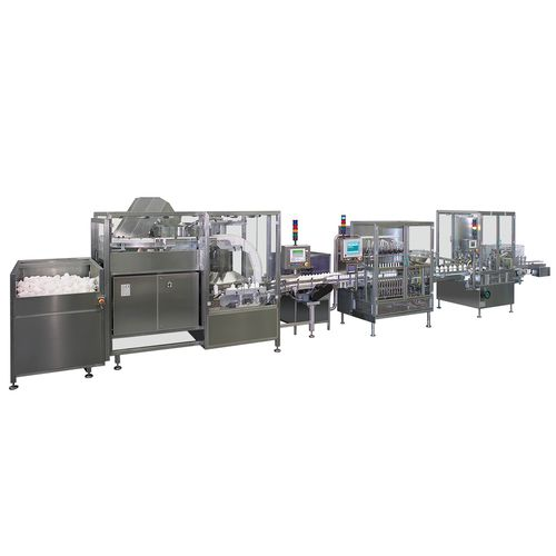 automatic packaging system / floor-standing / line-type / for the medical industry