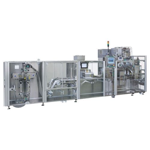 continuous-motion thermoformer / industrial / for pharmaceuticals packaging / floor-standing
