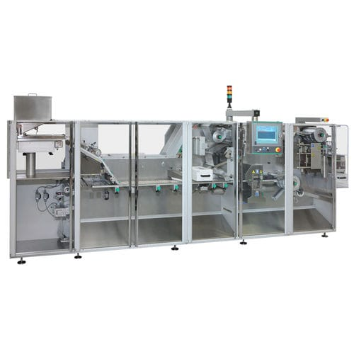 automatic thermoforming, punching and stacking machine / intermittent-motion