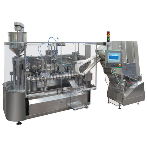 filling and sealing machine for the medical industry / for the pharmaceutical industry / automatic