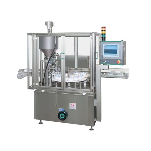filling and capping machine for the medical industry / intermittent-motion / automatic