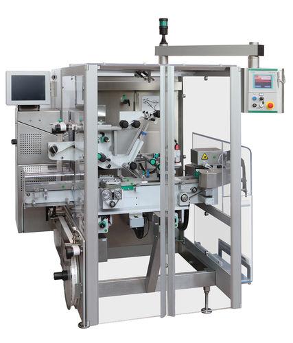 carton labeling machine / automatic / adhesive label
