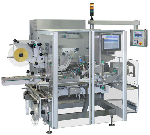 carton labeling machine / automatic / adhesive label