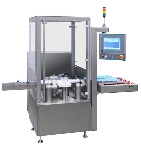 drug labeling machine / automatic / high-speed / continuous-motion