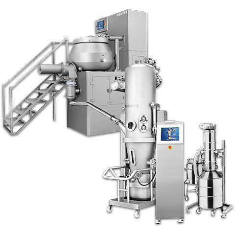 granulator for the pharmaceutical industry / dryer / fluidized bed