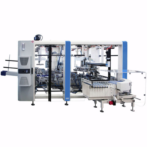 case packaging machine / servo-driven / electronic / wraparound