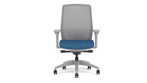 laboratory chair / office / with armrests / on casters