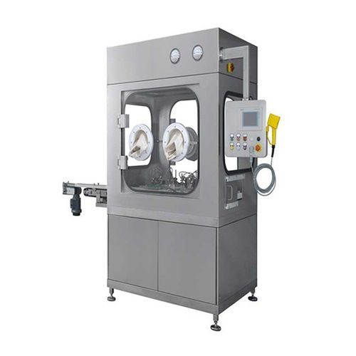vial capping system / for the pharmaceutical industry / rotary / floor-standing