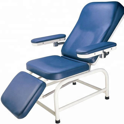 manual blood donor chair / 3-section / height-adjustable