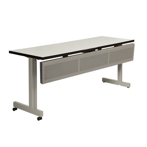 meeting room table / rectangular / on casters / tilting