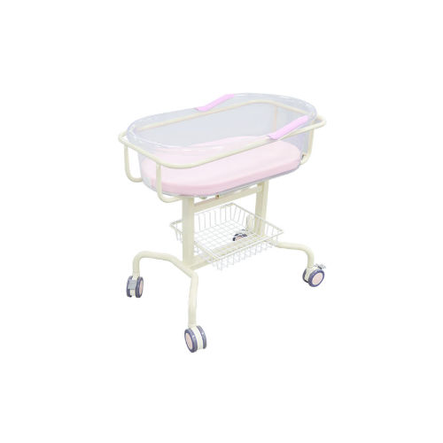 reverse Trendelenburg hospital bassinet / transparent / stainless steel