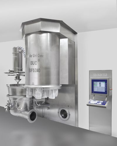 fluidized bed granulator / for the pharmaceutical industry / dryer / with coating system