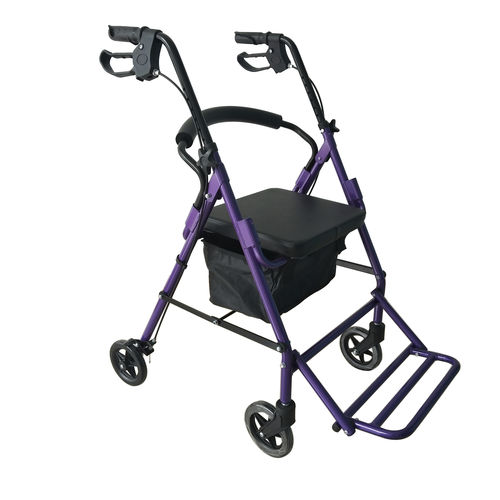 4-caster rollator / with seat / with basket / with armrests