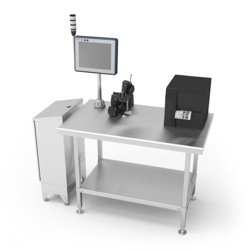 manual packaging machine / floor-standing / for the pharmaceutical industry / case