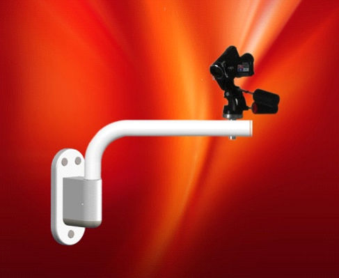 wall-mounted camera support arm / surgical / dental / medical