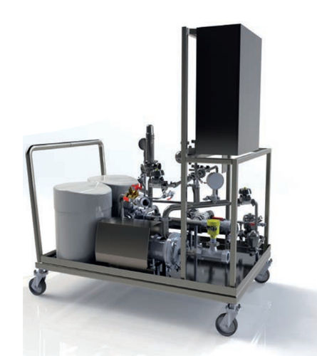 cleaning station for the pharmaceutical industry
