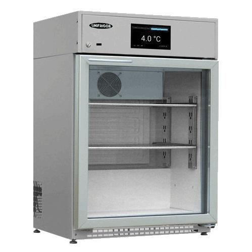 medical refrigerator / cabinet / stainless steel / 1-door