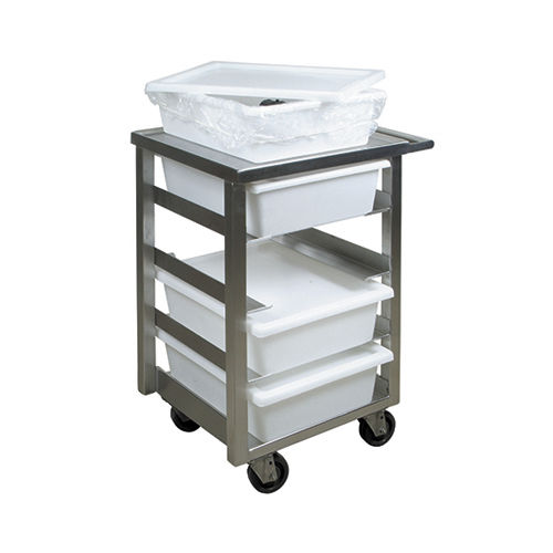 transport trolley / for endoscopes / stainless steel