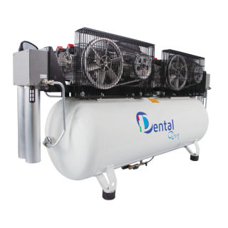 dental laboratory air compressor / for milling machines / rocking piston / with air dryer