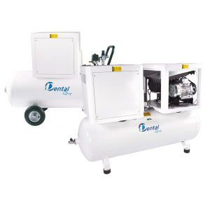 dental laboratory air compressor / for milling machines / rocking piston / silent