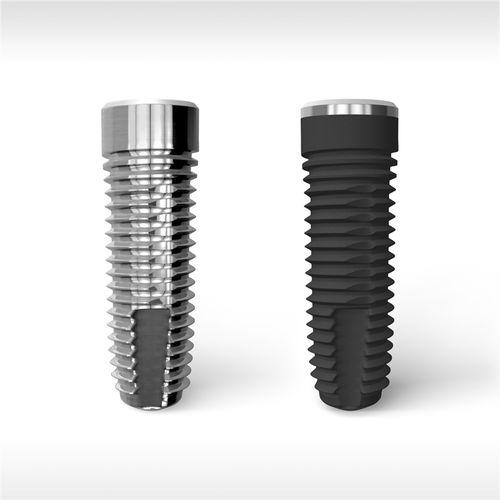 cylindrical dental implant / titanium