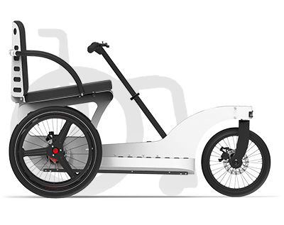 adult adaptative tricycle / lever-propelled