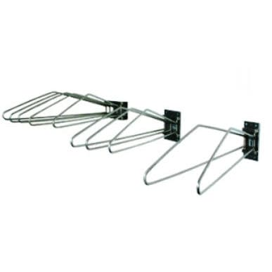 wall-mounted X-ray apron rack